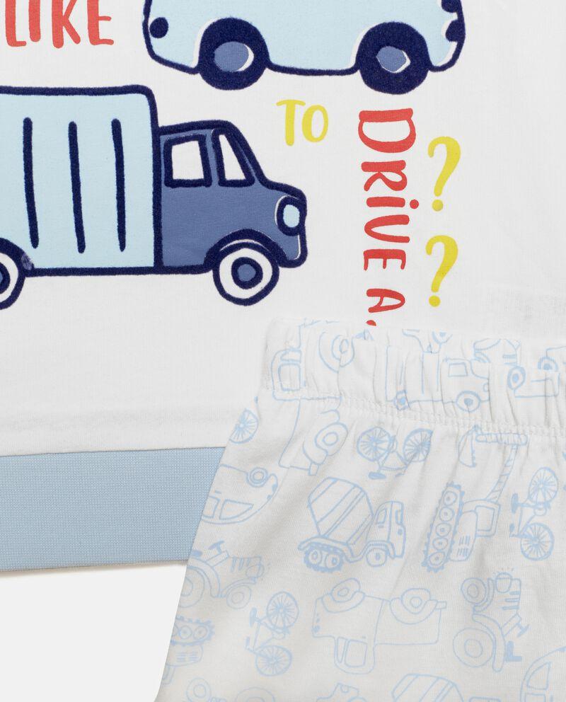 Set pigiama in puro cotone con disegni