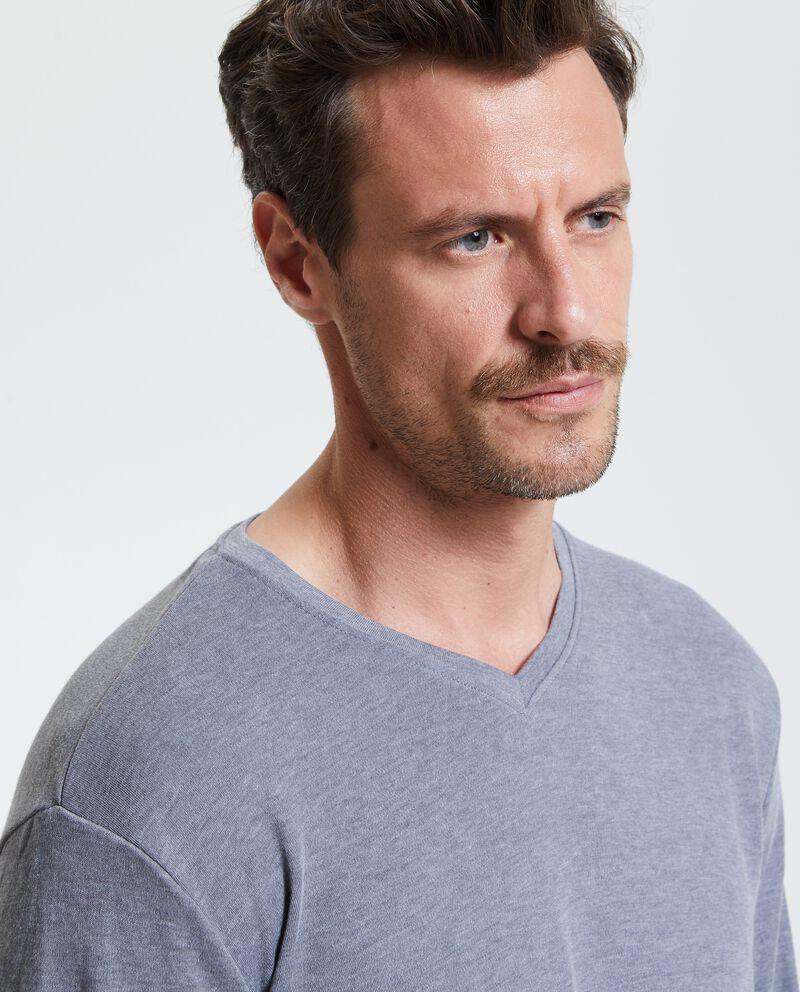 T-shirt con scollo a V uomo