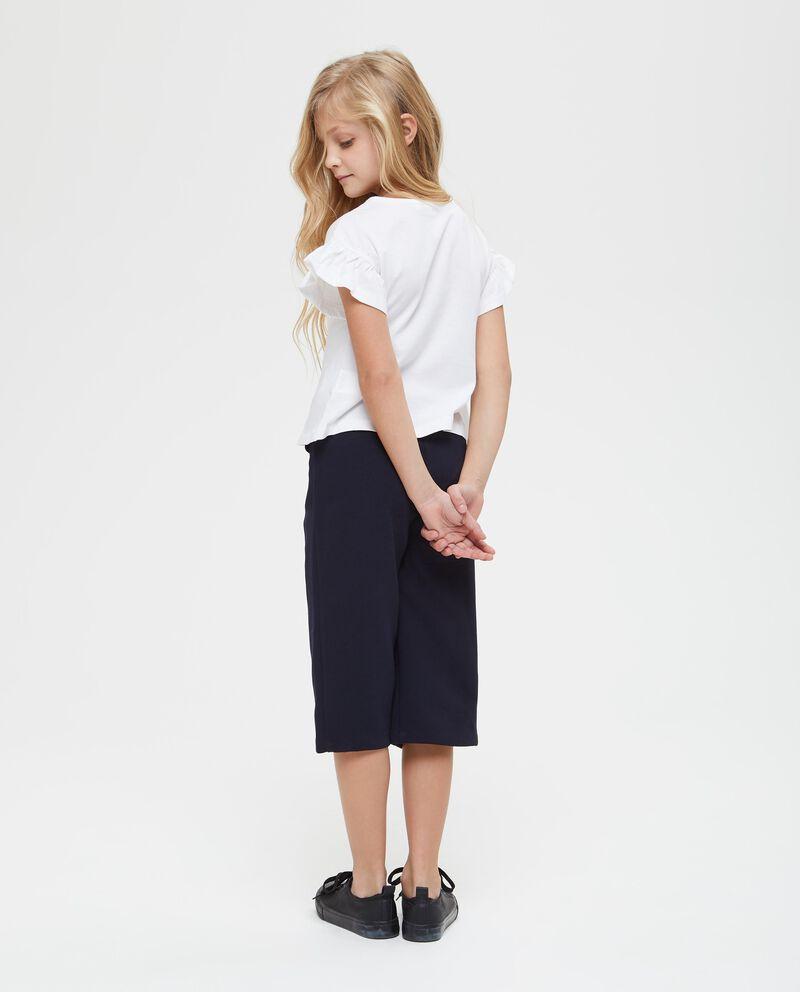 T-shirt puro cotone con fiocchetto