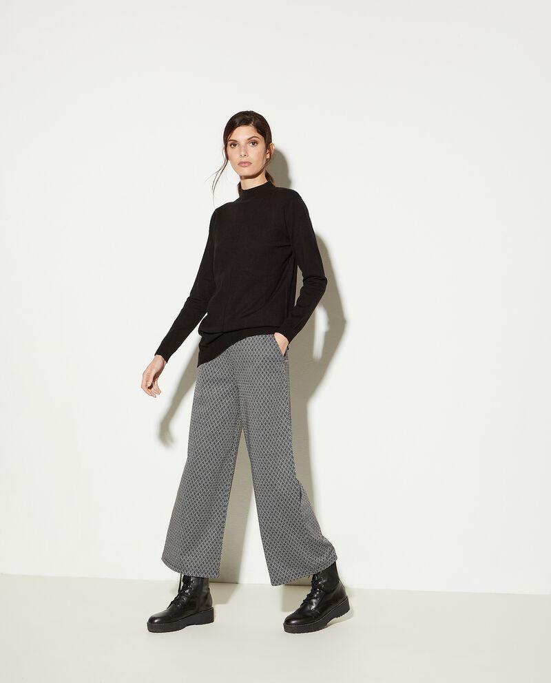 Pantaloni culotte con fantasia geometrica donna
