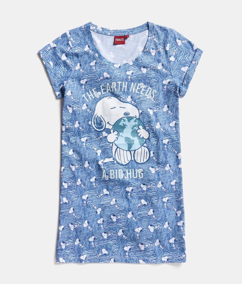 Camicia da notte Snoopy in puro cotone donna
