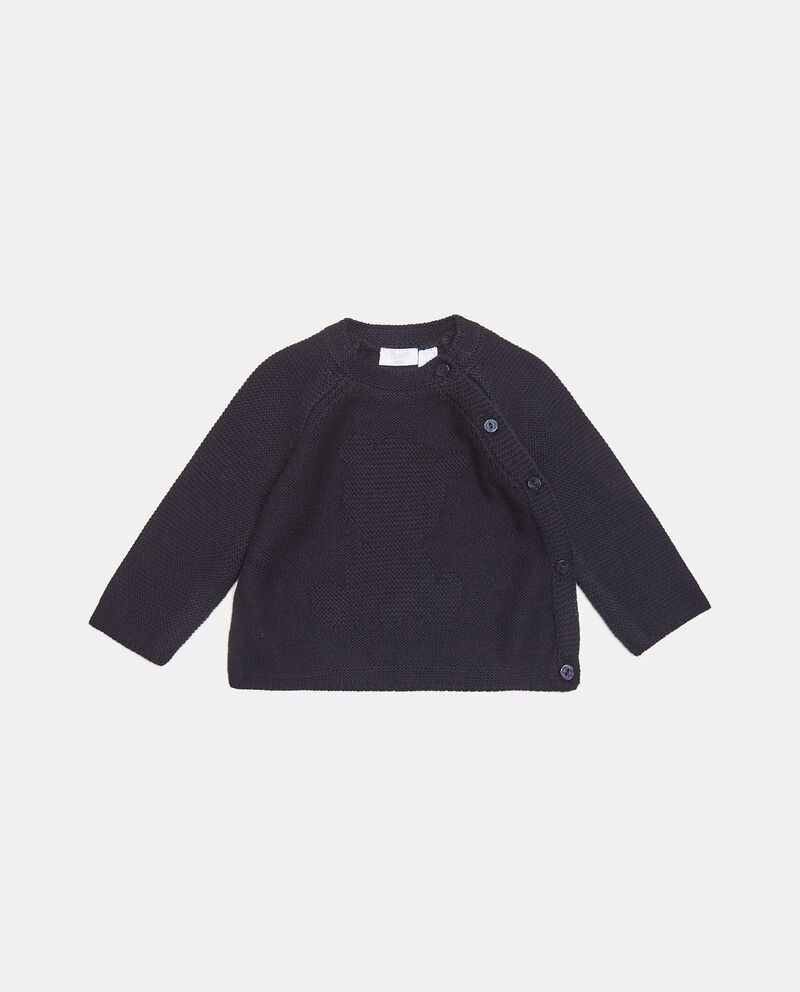 Cardigan in maglia di puro cotone neonata