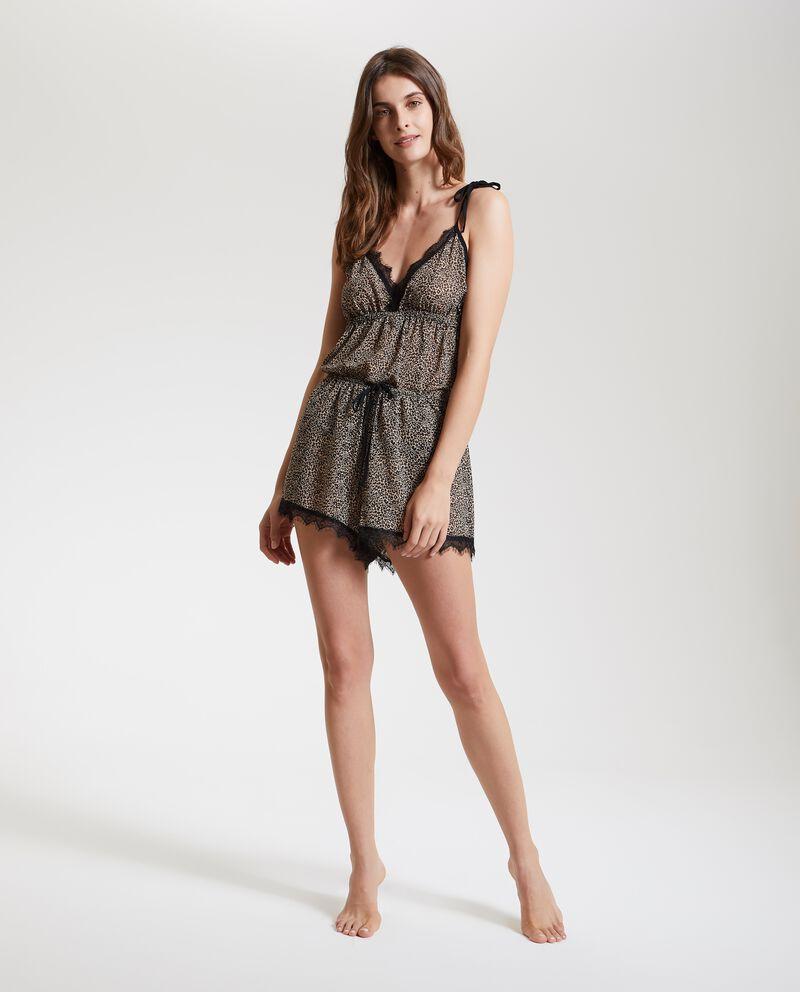 Shorts pigiama animalier donna
