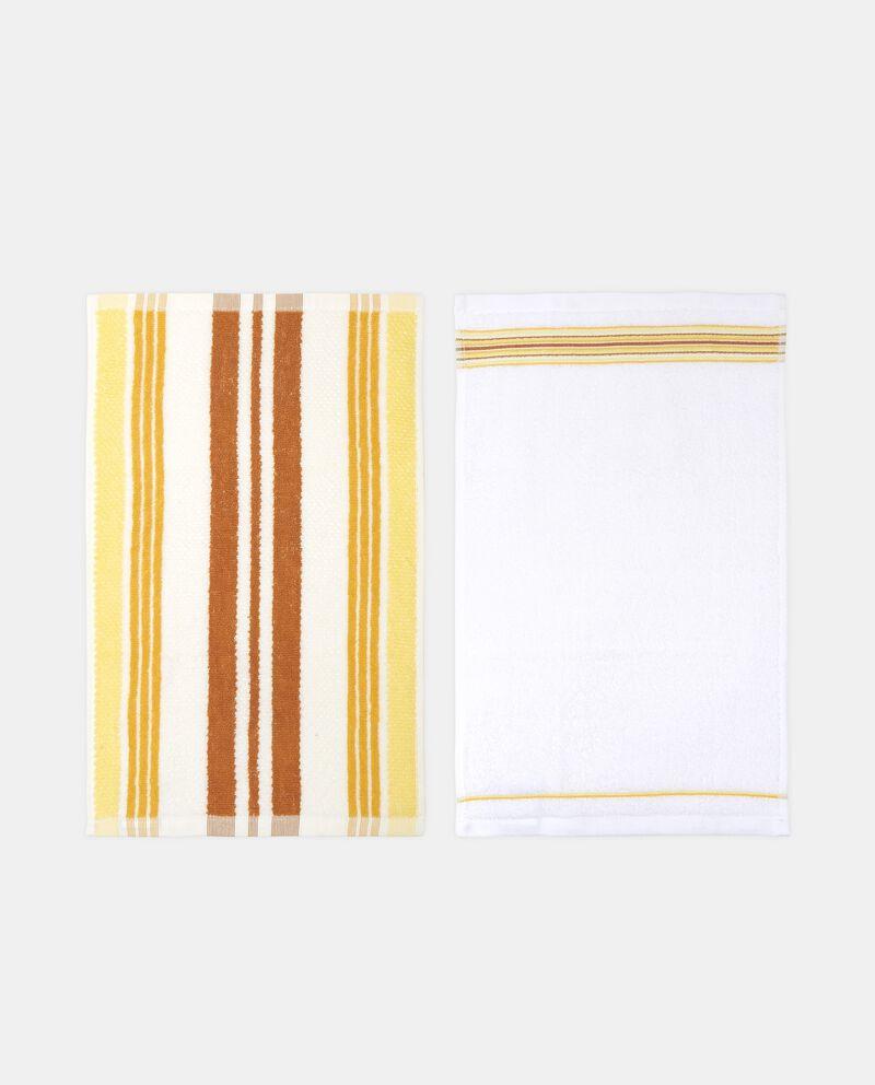 Set quattro asciugamani fantasia righe