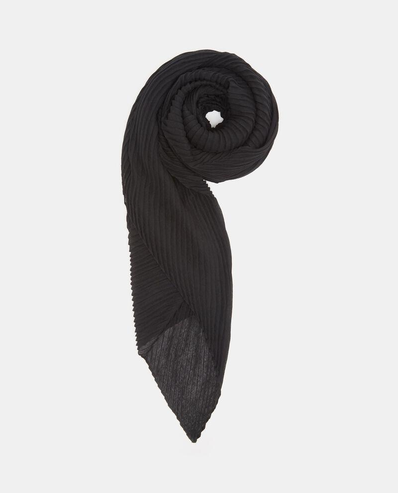 Sciarpa nera plissettata donna