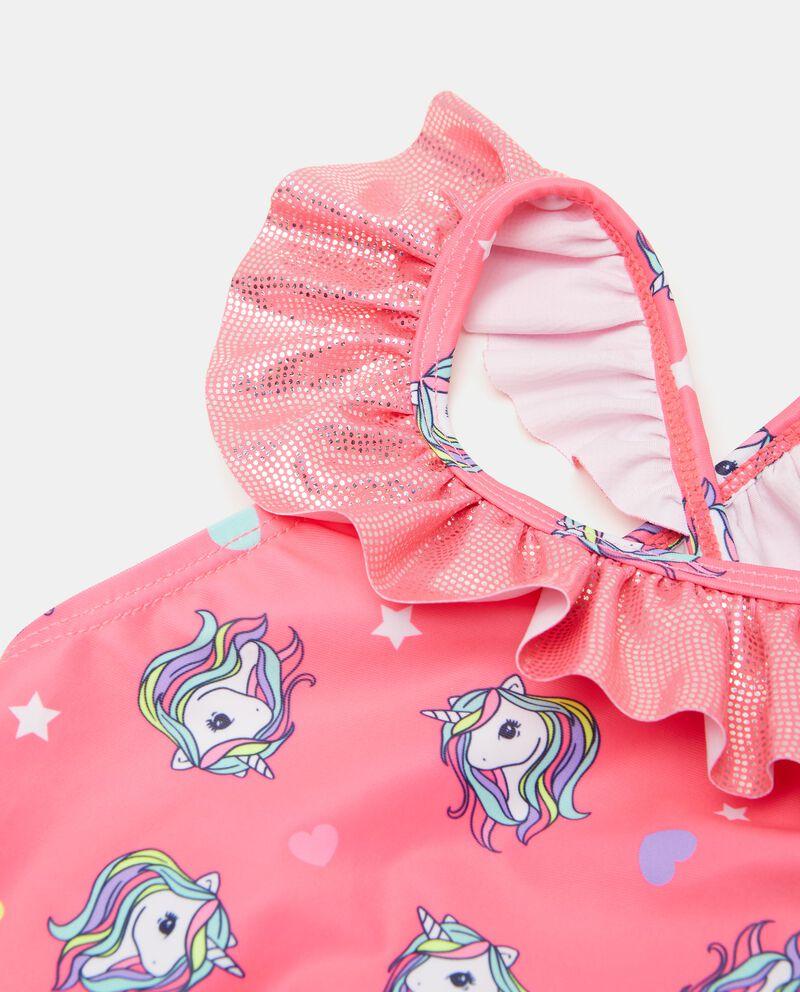 Costume intero stampato con unicorno bambina
