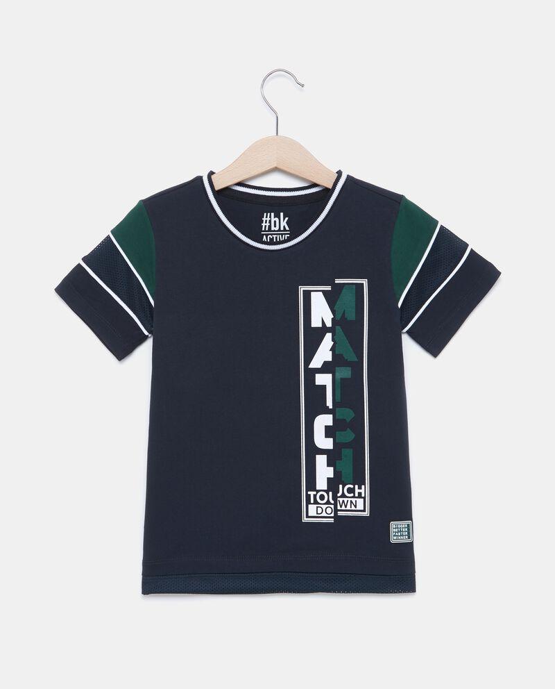 T-shirt in puro cotone con profili a contrasto bambino