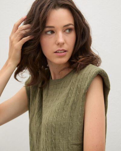 Gilet tricot tinta unita donna detail 2