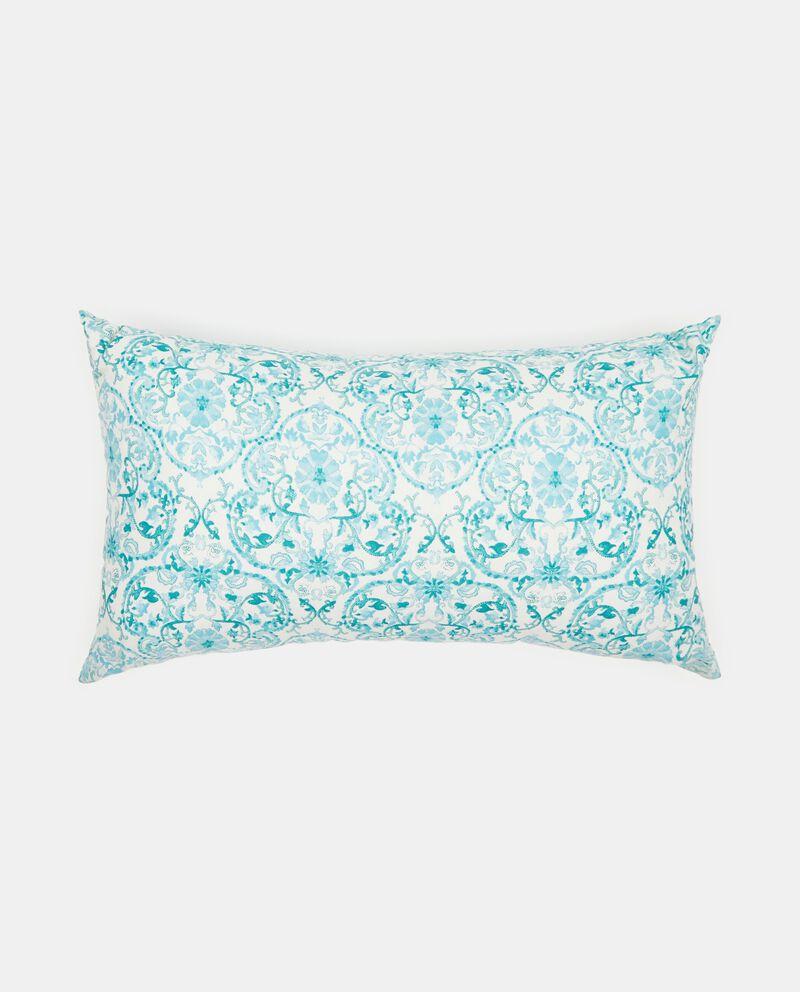 Cuscino in cotone decoro floreale