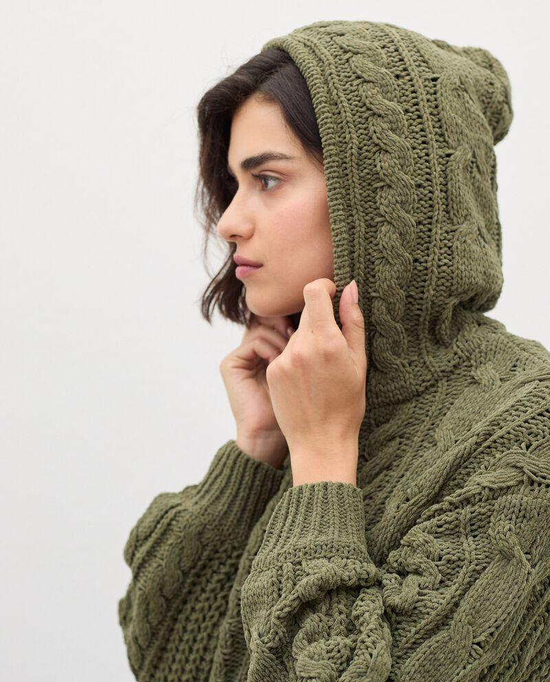 Cardigan tricot con zip donna single tile 2