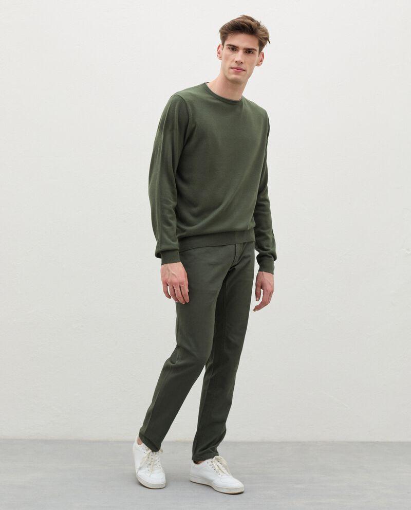 Pantaloni slim cinque tasche di puro cotone uomo cover