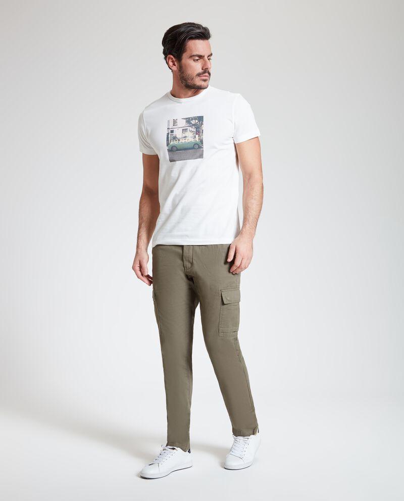 Pantaloni cargo puro cotone uomo