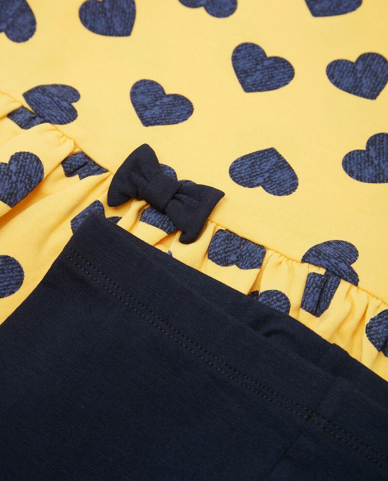 Set t-shirt cuori e leggings neonata