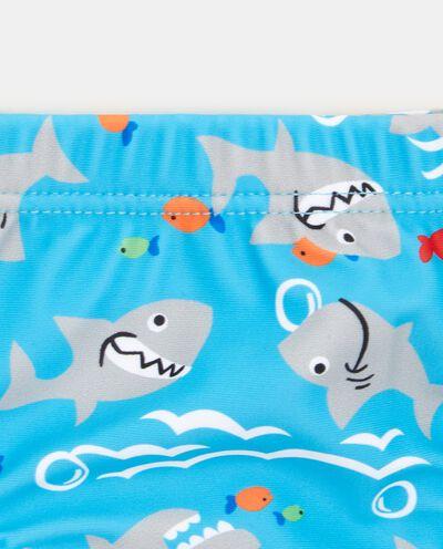 Costume slip con fantasia squali bambino