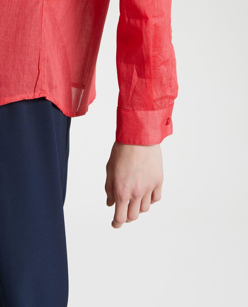 Camicia puro cotone trasparente donna single tile 2