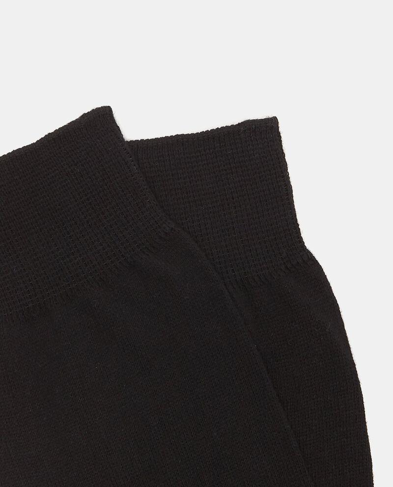 Calze corte nere trama uniforme