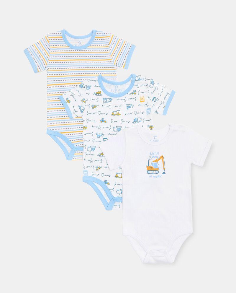 Set di 3 body di puro cotone biologico neonato cover