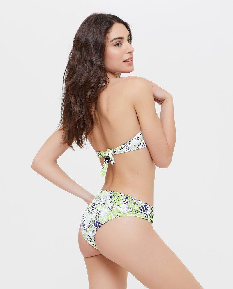 Slip bikini con fantasia animalier donna