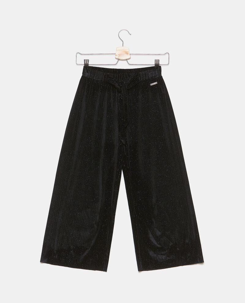 Pantaloni plissettati con filo lurex ragazza
