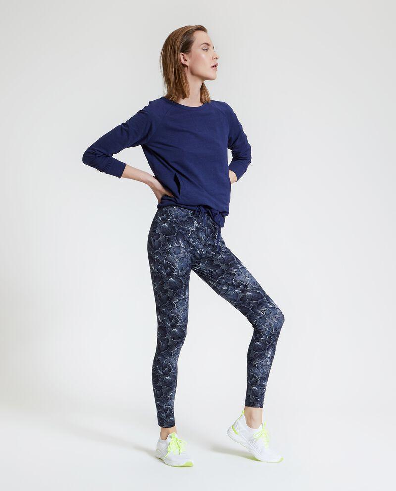 Leggings Fitness con fantasia floreale donna