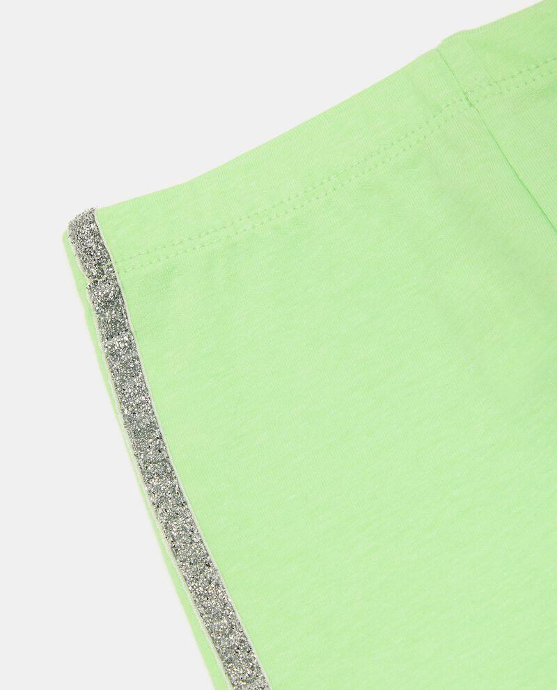 Leggings di cotone elasticato con bande neonata