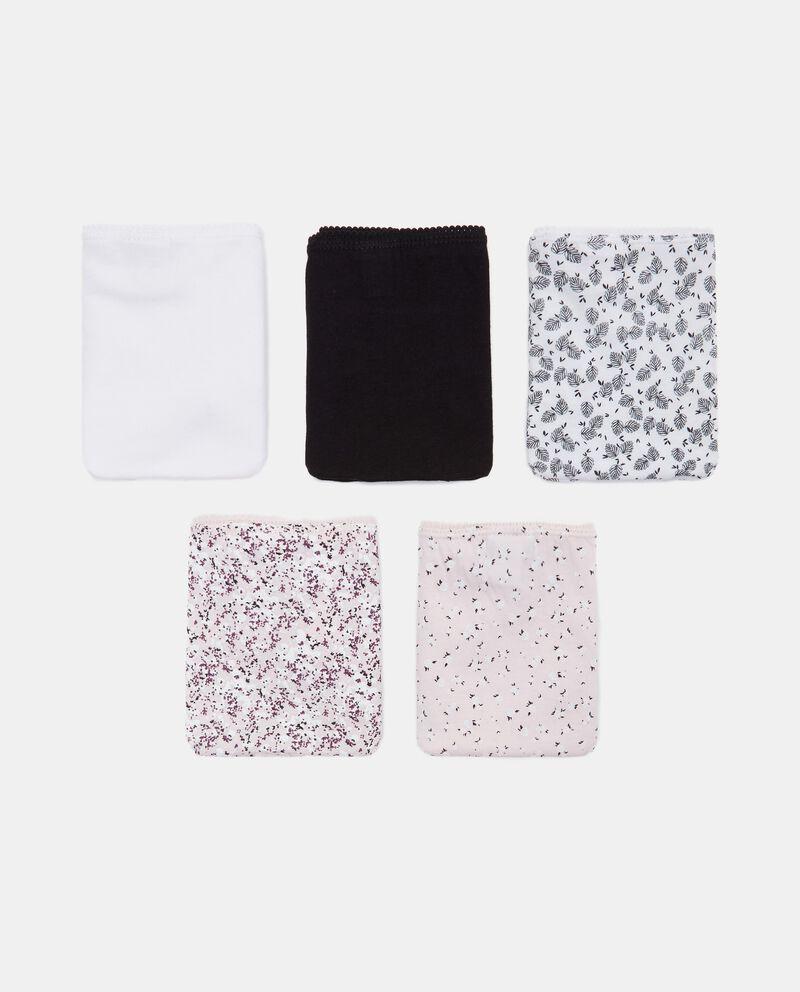 Pack con 5 slip in cotone stretch cover