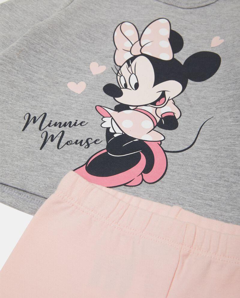 Completino con felpa e pantaloni Minnie neonata