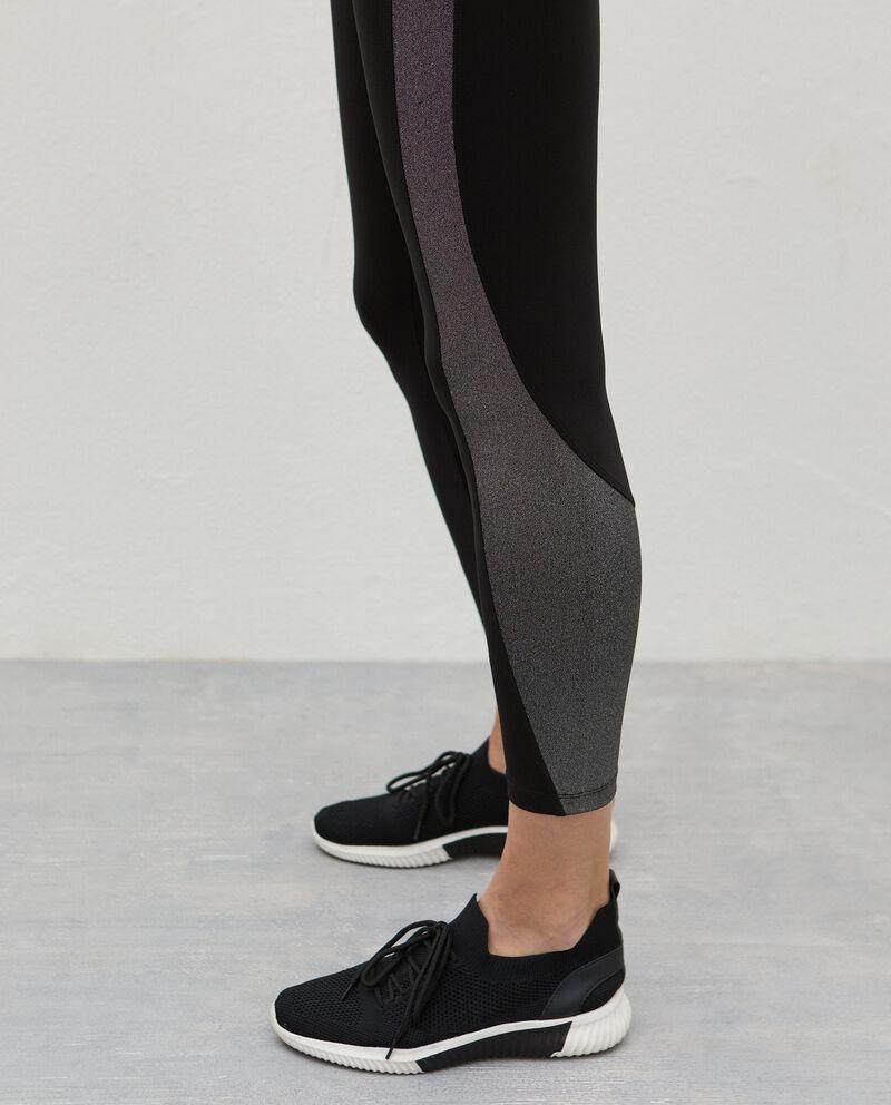 Leggings con inserti Fitness donna single tile 2