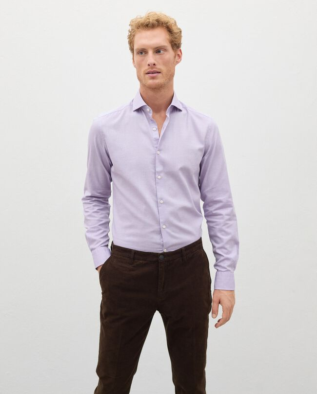 Camicia di puro cotone in micro fantasia uomo carousel 0