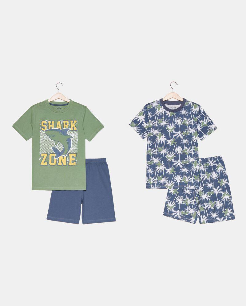 Bipack di 2 pigiami corti in cotone organico ragazzo