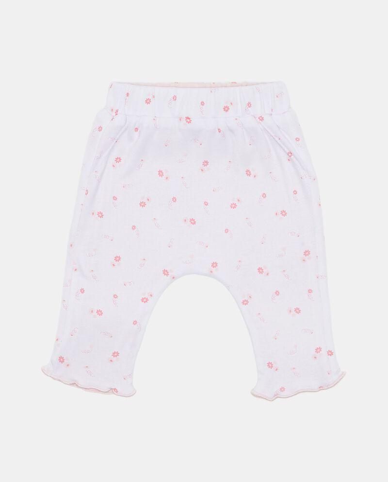 Pantaloni con tasche fantasia floreale
