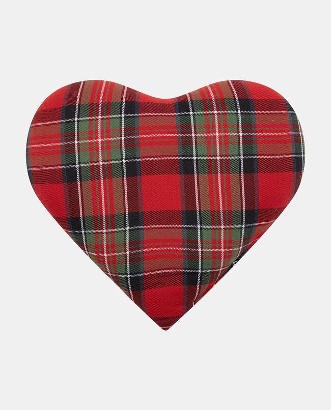 Cuscino a forma di cuore tartan