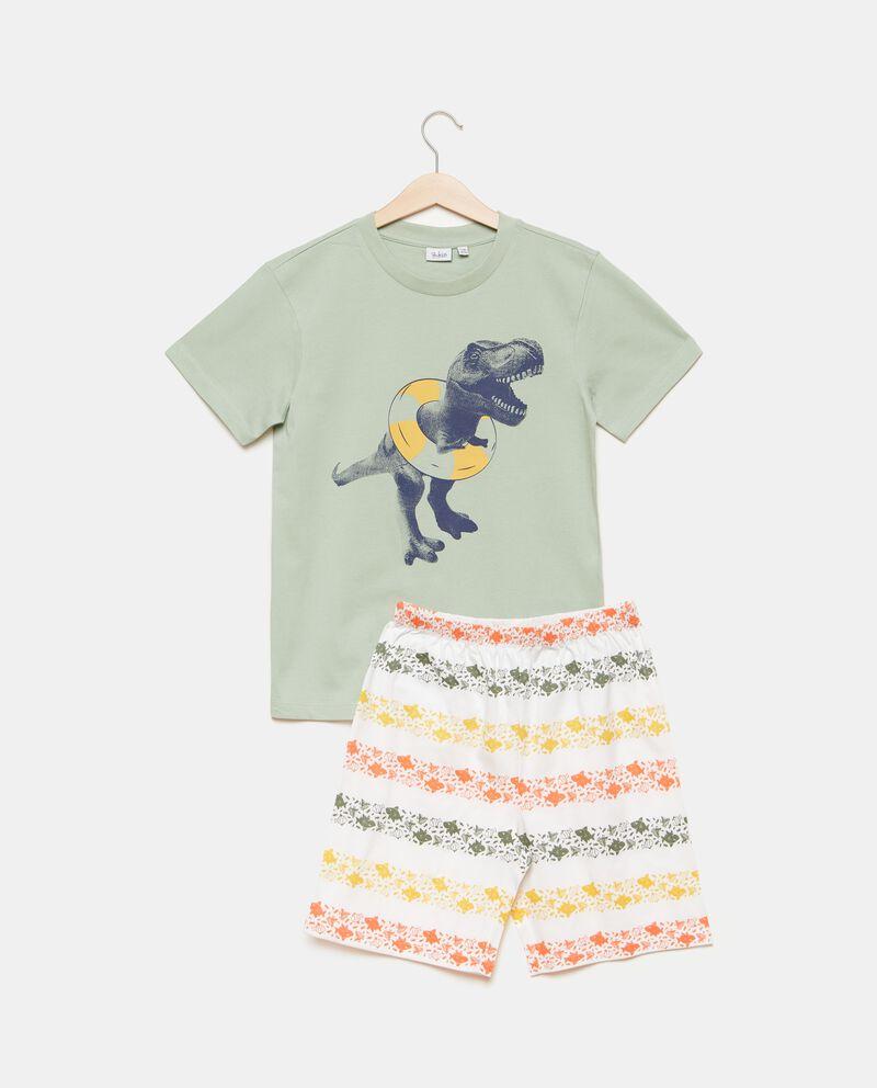 Set pigiama in puro cotone con t-shirt e shorts bambino