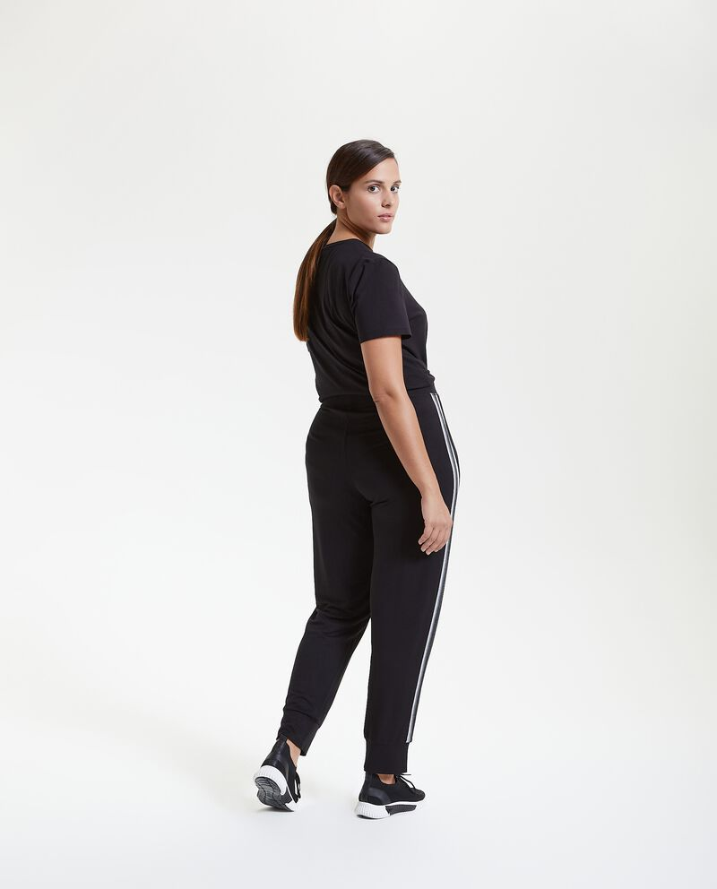 Pantaloni Fitness con bande Curvy donna