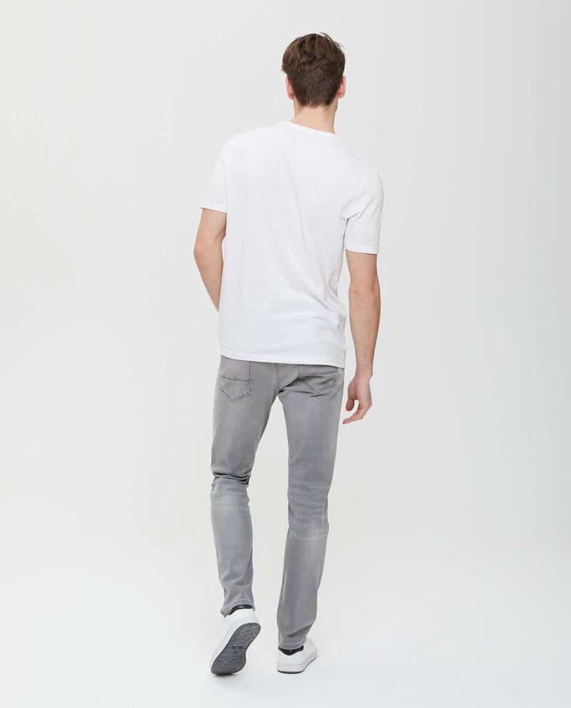 T-shirt in puro cotone bianca con stampa