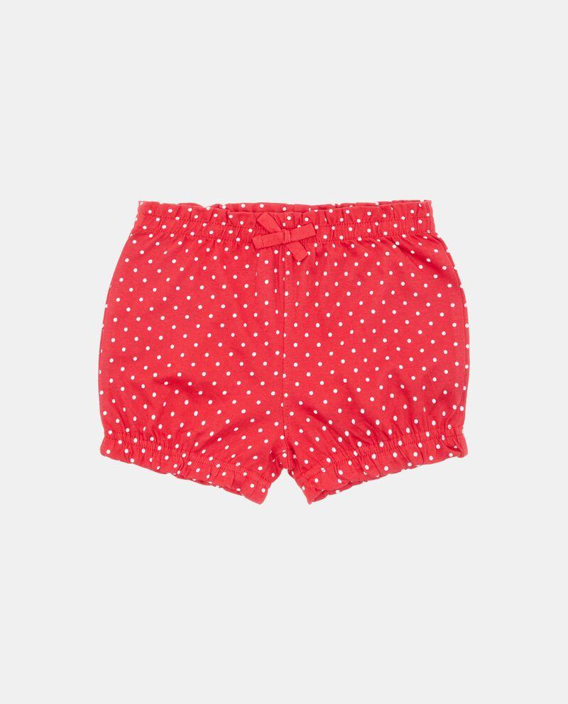 Shorts in puro cotone con motivo a pois neonata