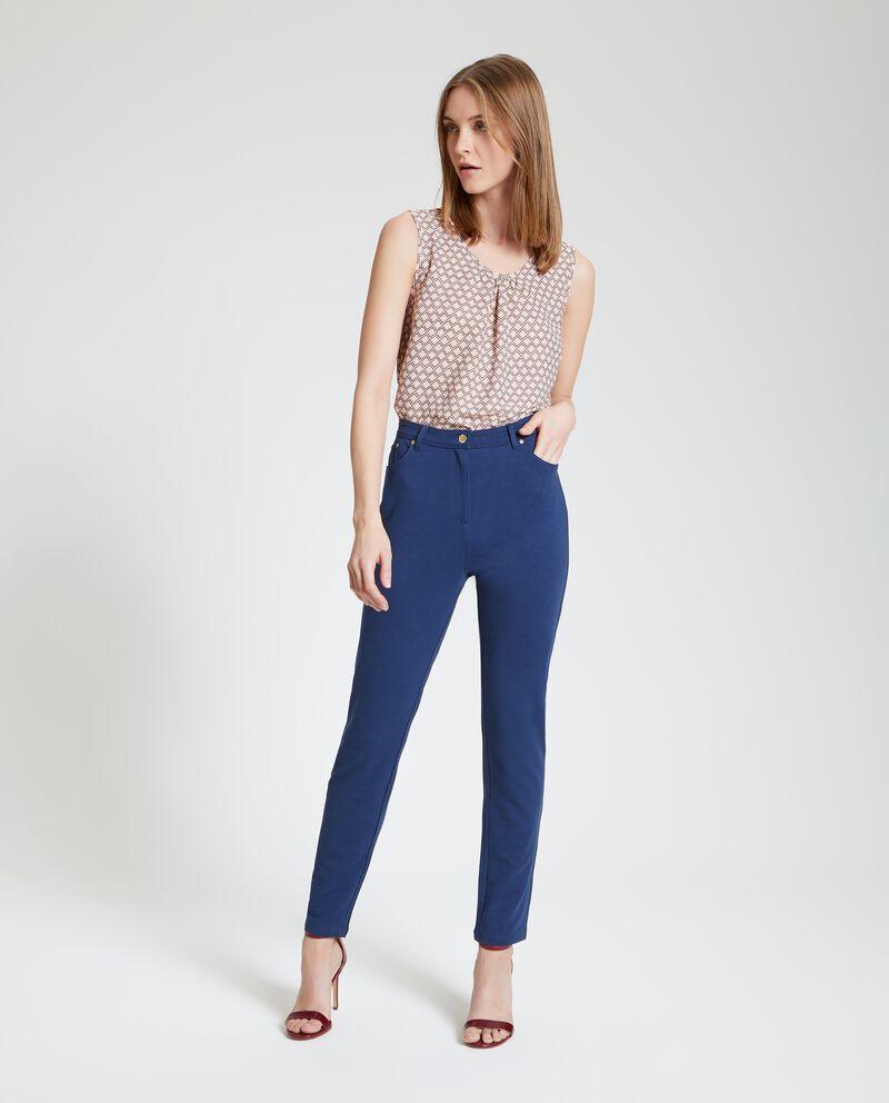 Pantaloni a vita alta elasticizzati donna