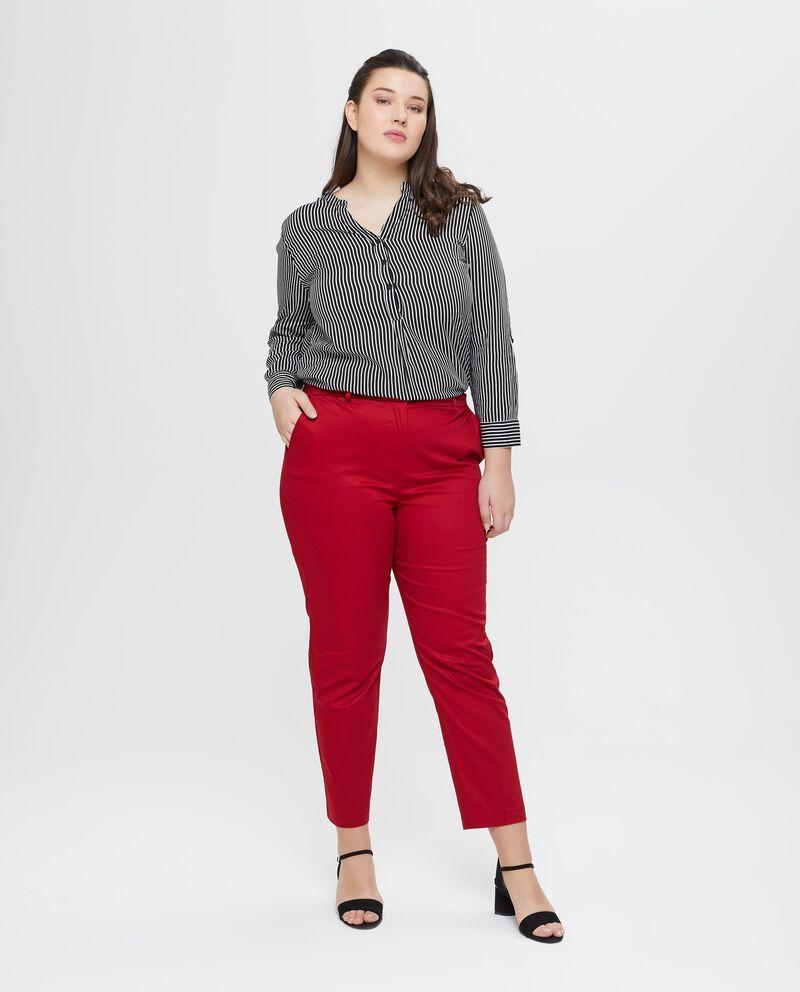 Pantaloni chino in viscosa tinta unita Curvy