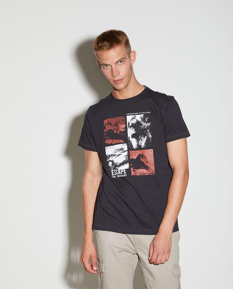 T-shirt puro cotone con stampa uomo