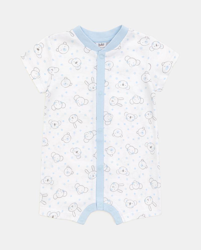 Body bebè in puro cotone con fantasia