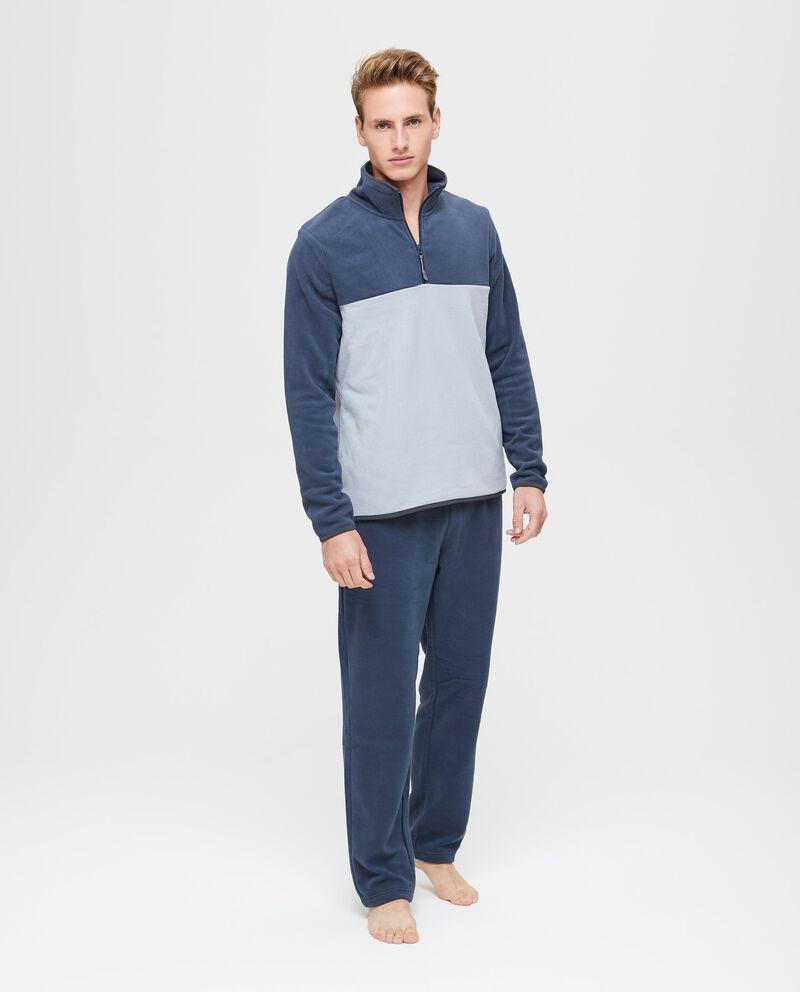 Maglia pigiama pile bicolore