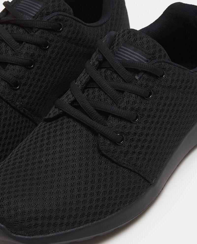 Sneakers nere con tomaia a rete