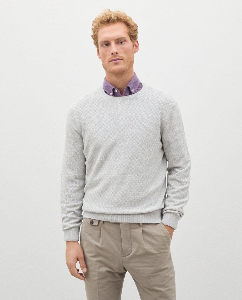 Pullover tricot in misto cashmere uomo cover