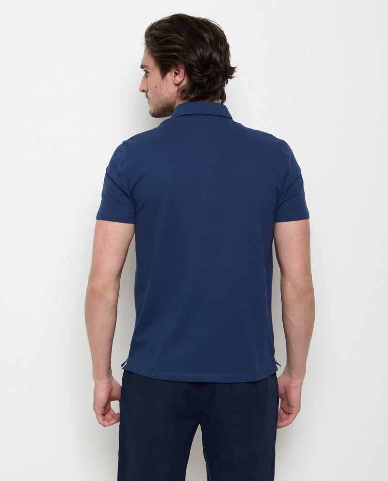 Polo in cotone stretch a maniche corte uomodouble bordered 1