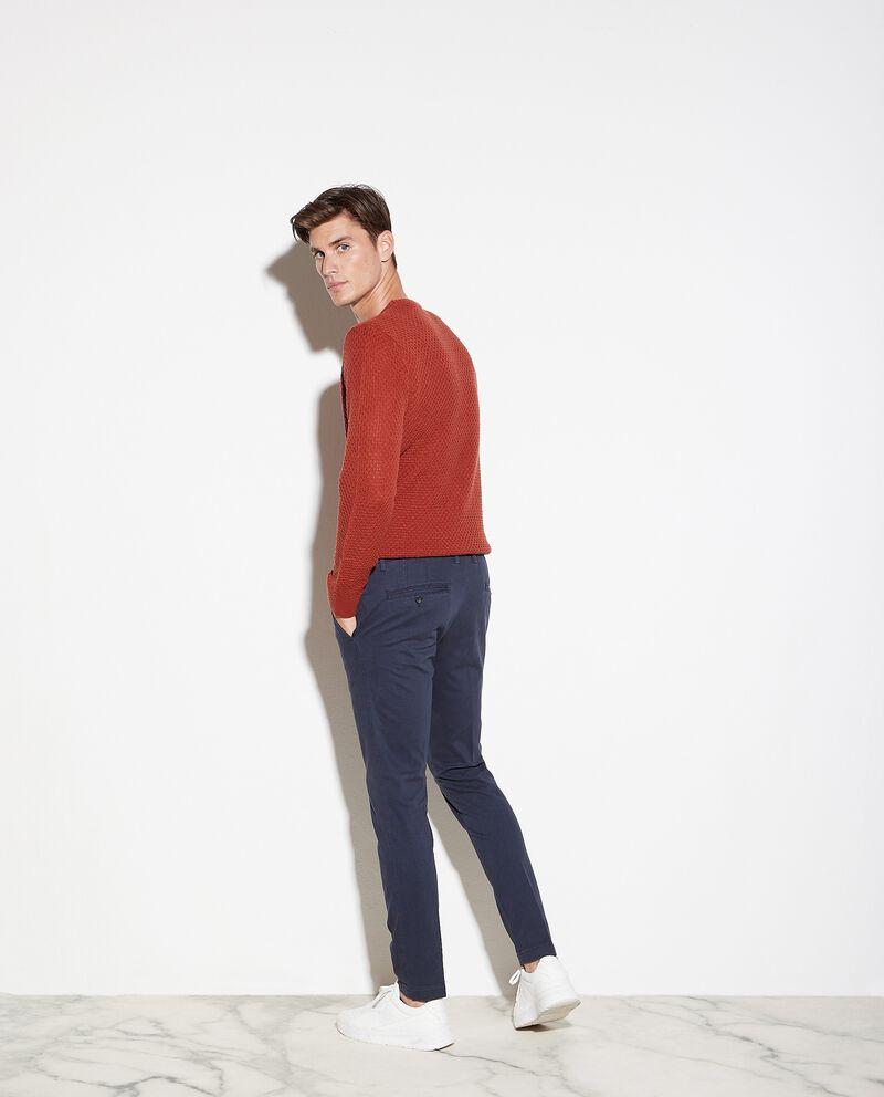 Pantaloni chino a micro quadretti uomo