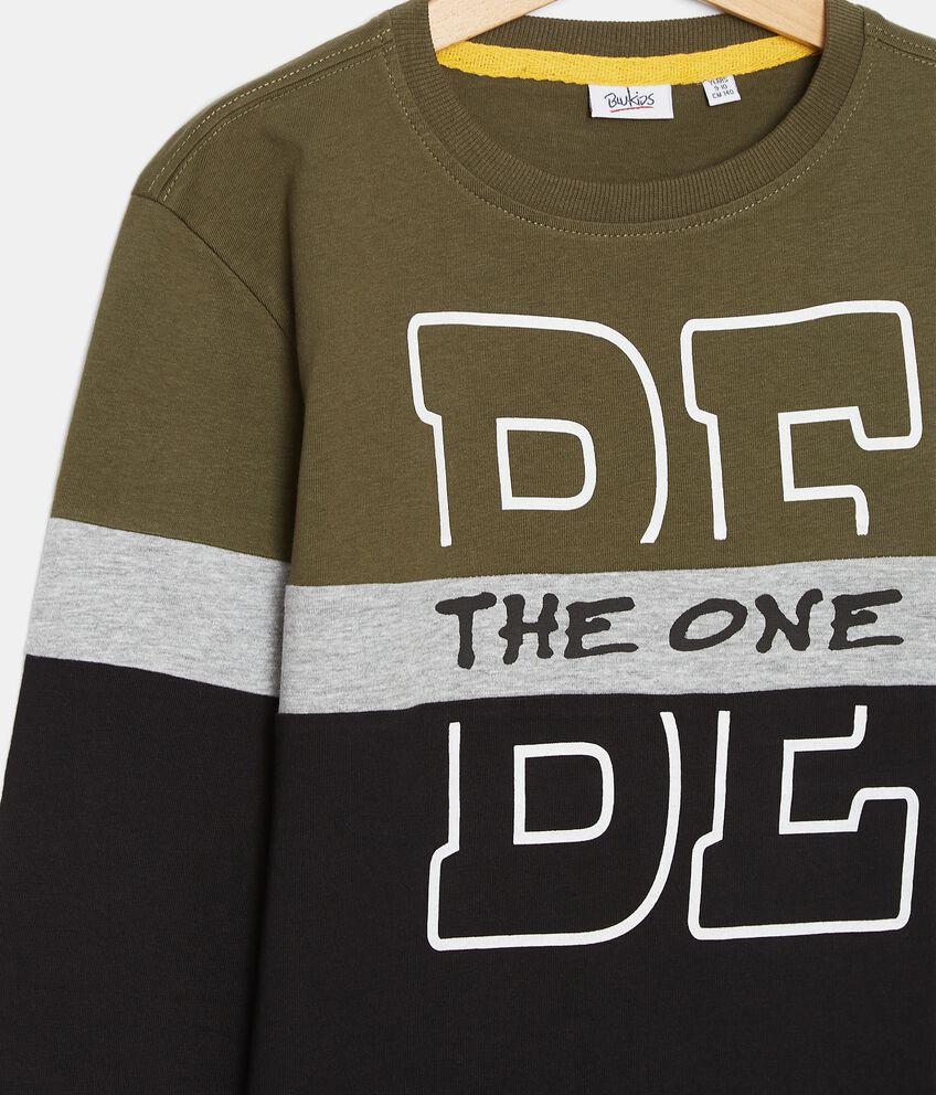 T-shirt in cotone organico jersey con stampa ragazzo double 2