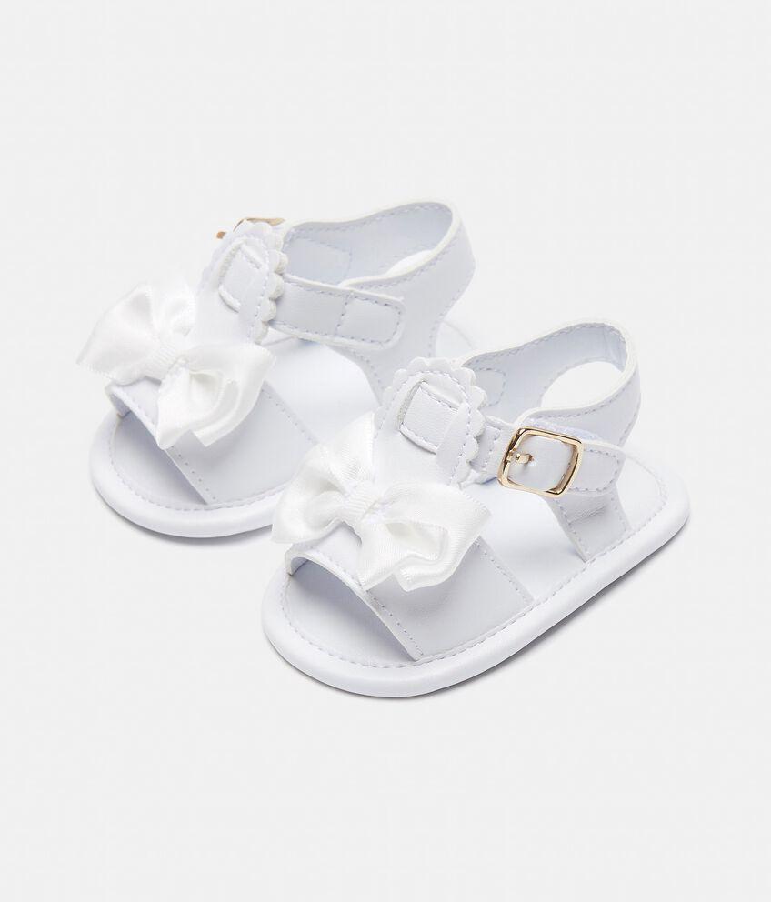 Sandali con fiocchi applicati neonata double 1