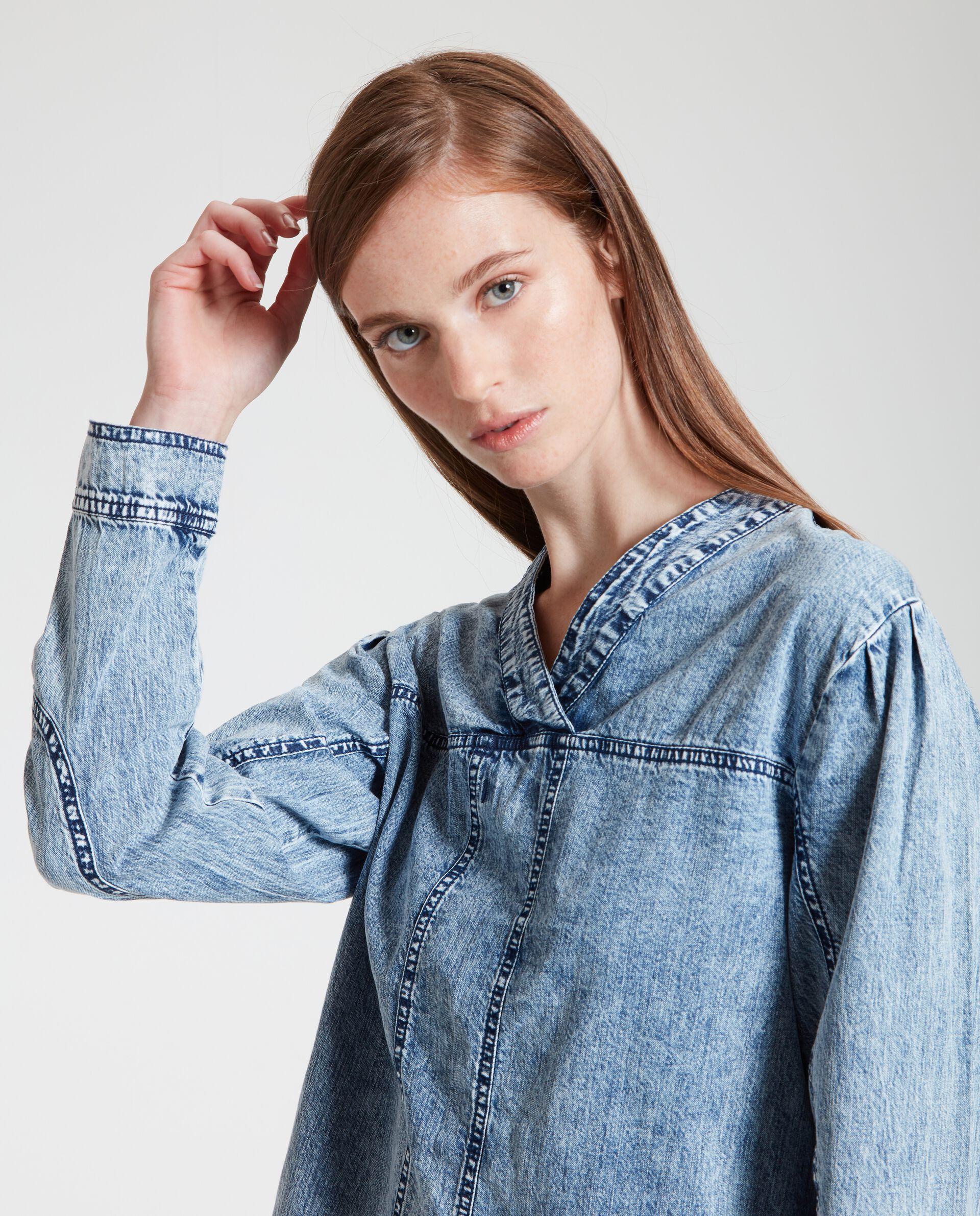 Vestito jeans in puro cotone donna