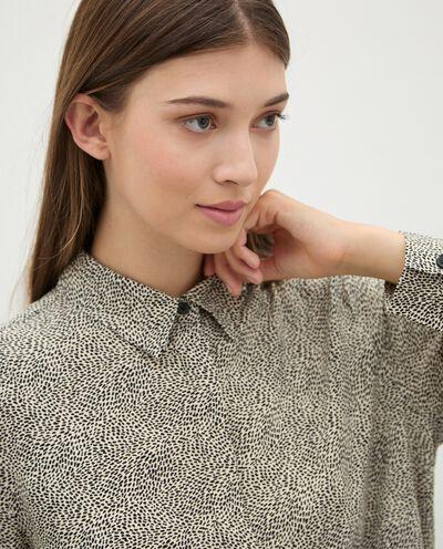 Camicia di pura viscosa con micro fantasia donna detail 2