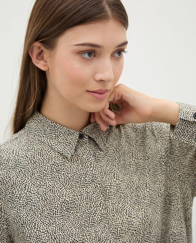 Camicia di pura viscosa con micro fantasia donna single tile 2